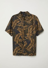 H&M H & M - Regular Fit Lyocell Shirt - Black