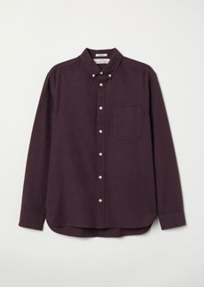 H&M H & M - Regular Fit Oxford Shirt - Purple