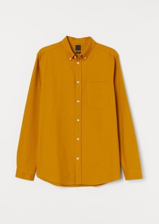 H&M H & M - Regular Fit Oxford Shirt - Yellow