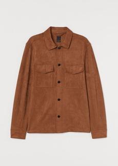 H&M H & M - Regular Fit Shirt Jacket - Beige
