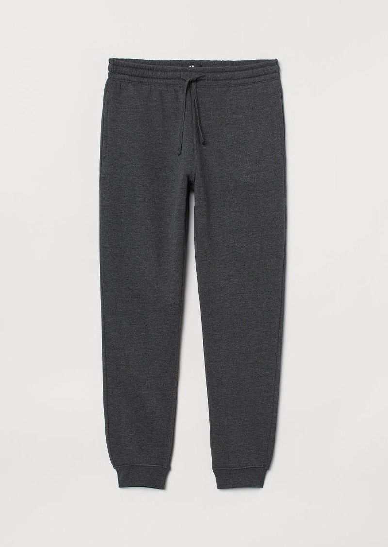 H&M H & M - Regular Fit Sweatpants - Black