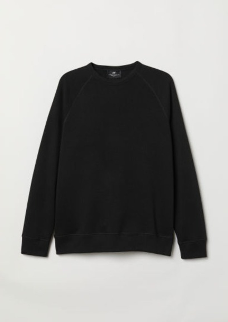 H&M H & M - Regular Fit Sweatshirt - Black
