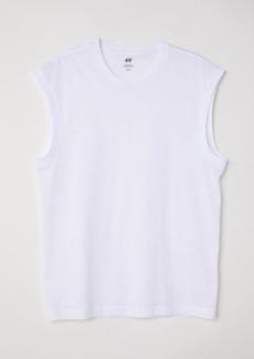 H&M H & M - Regular Fit Tank Top - White