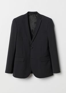 H&M H & M - Regular Fit Wool-blend Blazer - Black