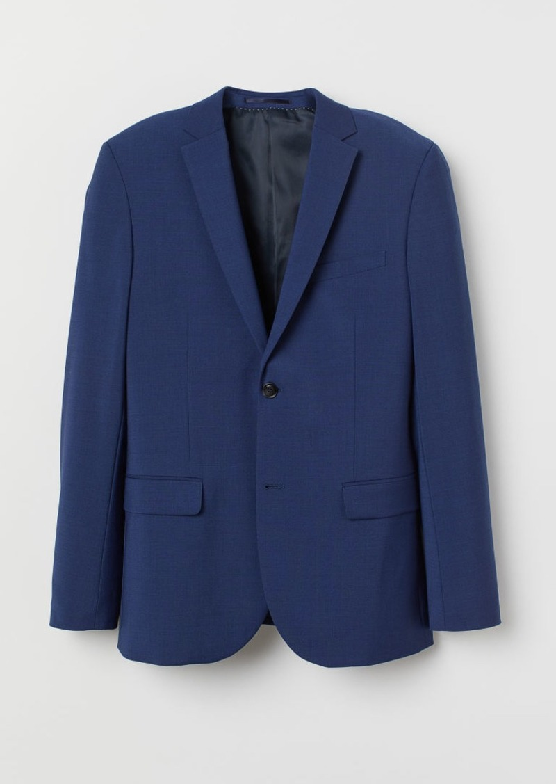 H&M H & M - Regular Fit Wool-blend Blazer - Blue
