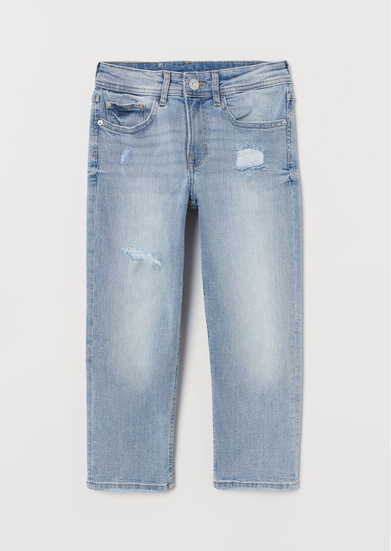 H&M H & M - Relaxed Cropped Jeans - Blue