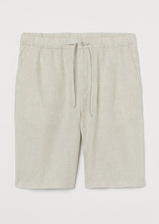 H&M H & M - Relaxed Fit Shorts - White