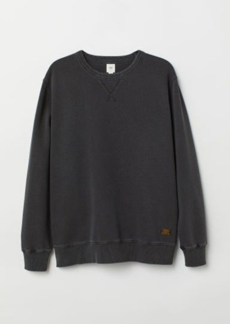 H&M H & M - Relaxed-fit Sweatshirt - Black
