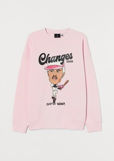 H&M H & M - Relaxed Fit Sweatshirt - Pink