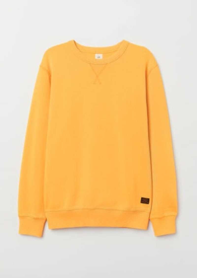 H&M H & M - Relaxed-fit Sweatshirt - Yellow