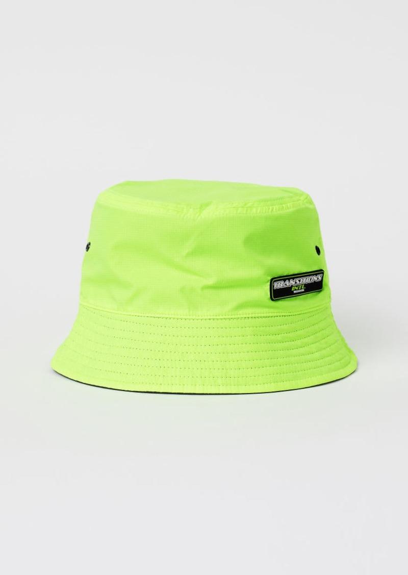 H&M H & M - Reversible Bucket Hat - Yellow