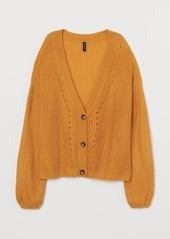 H&M H & M - Rib-knit Cardigan - Yellow