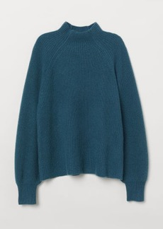 H&M H & M - Rib-knit Cashmere Sweater - Green