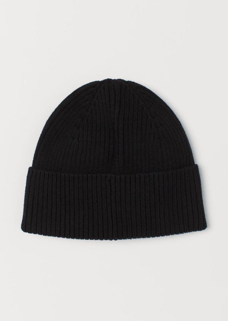 H&M H & M - Rib-knit Hat - Black