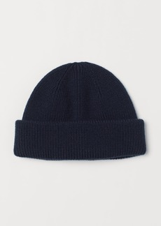 H&M H & M - Rib-knit Hat - Blue