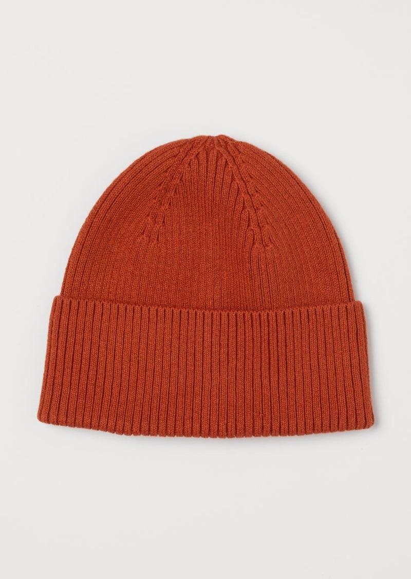 H&M H & M - Rib-knit Hat - Orange