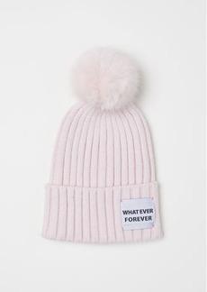 H&M H & M - Rib-knit Hat - Pink