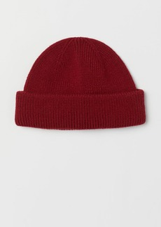 H&M H & M - Rib-knit Hat - Red