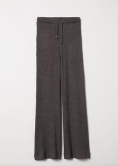 H&M H & M - Rib-knit Joggers - Black