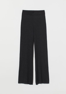 H&M H & M - Rib-knit Pants - Black