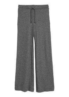 H&M H & M - Rib-knit Pants - Gray