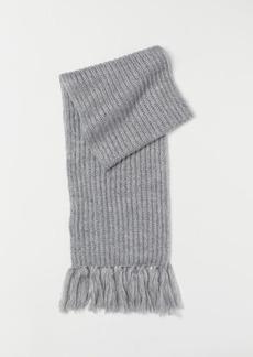 H&M H & M - Rib-knit Scarf - Gray