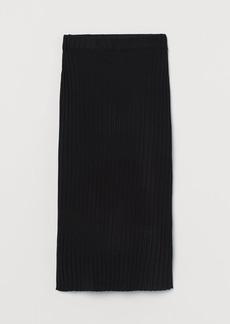 H&M H & M - Rib-knit Skirt - Black
