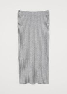 H&M H & M - Rib-knit Skirt - Gray