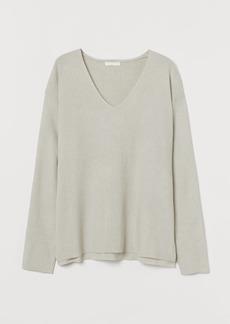 H&M H & M - Rib-knit Sweater - Gray