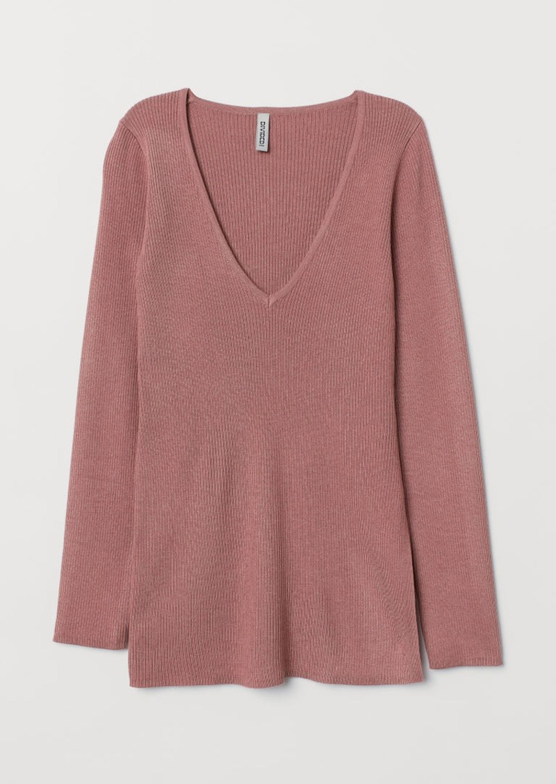 H&M H & M - Rib-knit Sweater - Pink