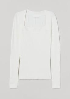 H&M H & M - Rib-knit Sweater - White