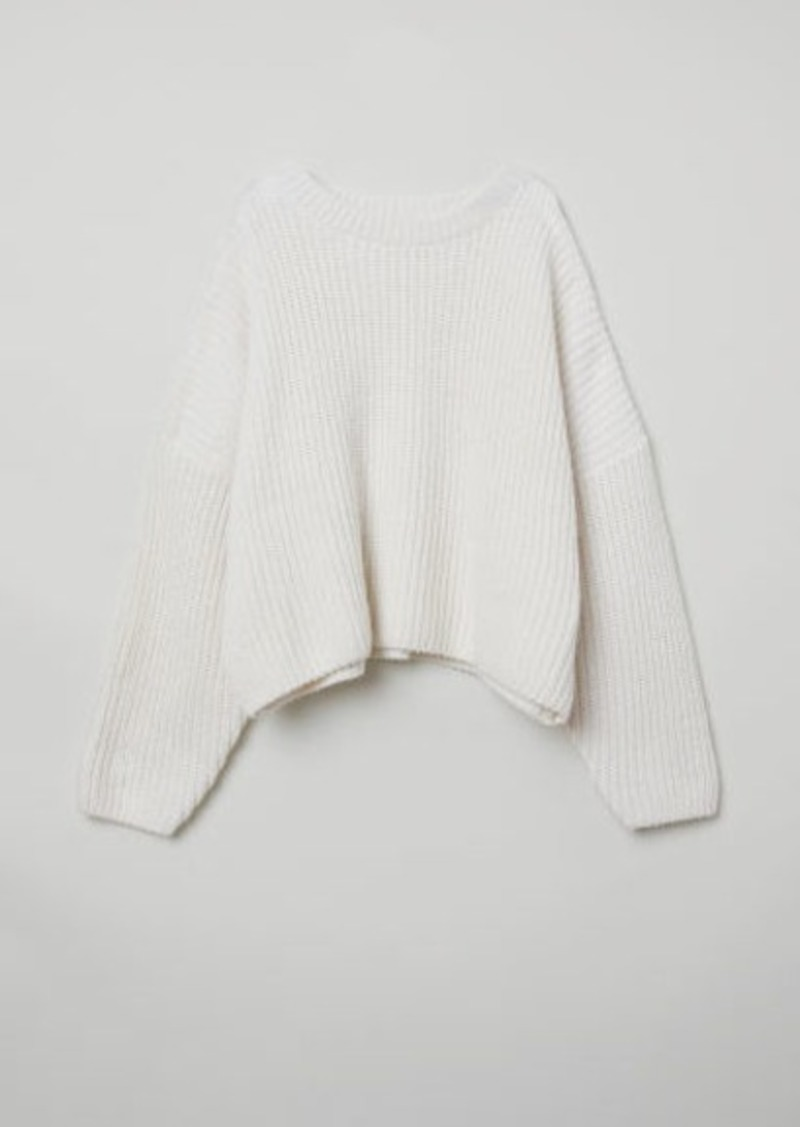 5ddee9d99c H M H   M - Rib-knit Sweater - White