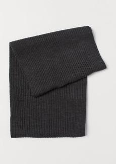 H&M H & M - Rib-knit Tube Scarf - Black