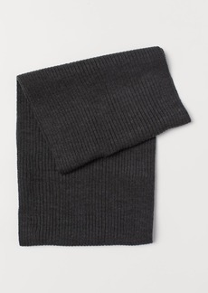 H&M H & M - Rib-knit Tube Scarf - Black