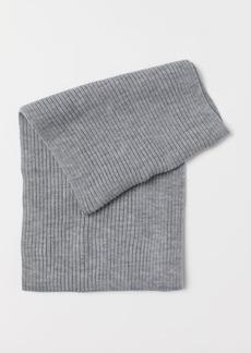 H&M H & M - Rib-knit Tube Scarf - Gray