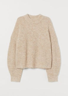H&M H & M - Rib-knit Wool-blend Sweater - Beige