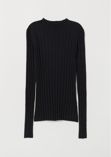 H&M H & M - Fine-knit Merino Wool Sweater - Blue