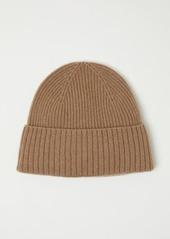 H&M H & M - Ribbed Cashmere Hat - Beige