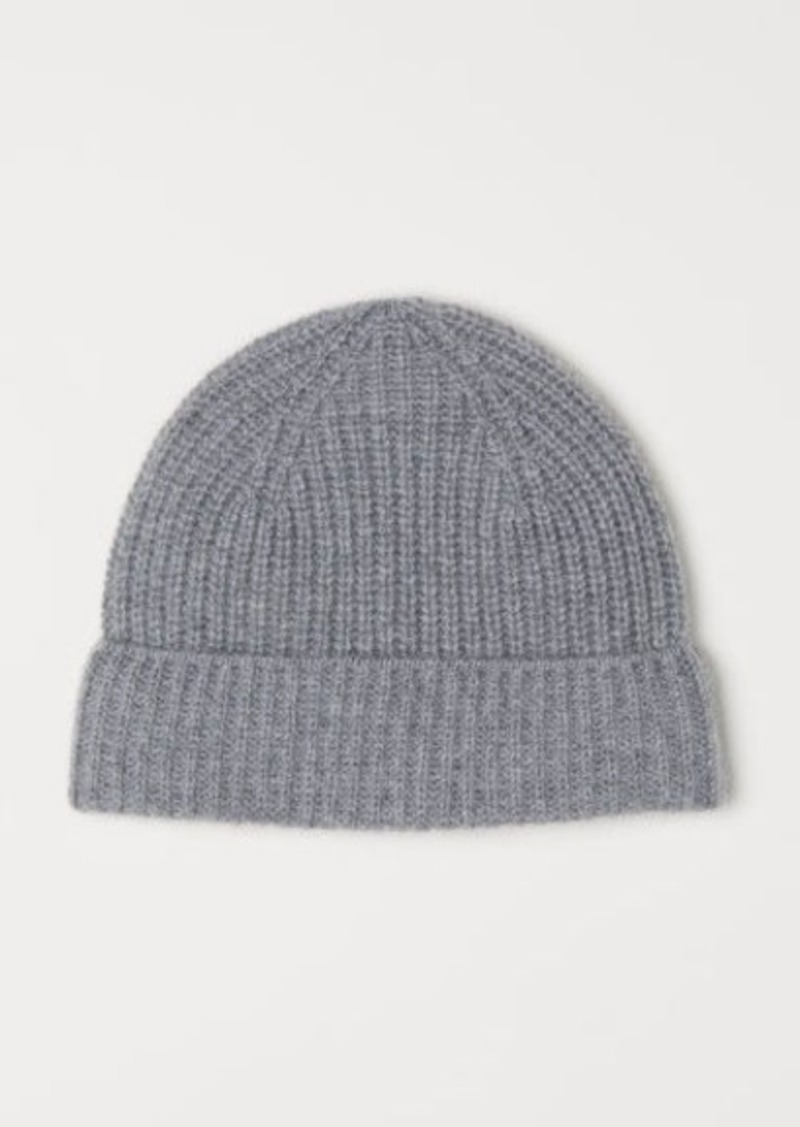f6918d3f532 H M H   M - Ribbed Cashmere Hat - Gray