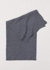 H&M H & M - Ribbed Cashmere Scarf - Gray
