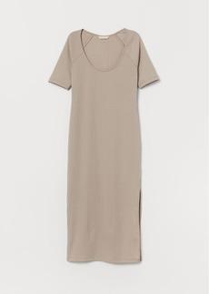 H&M H & M - Ribbed Dress - Brown