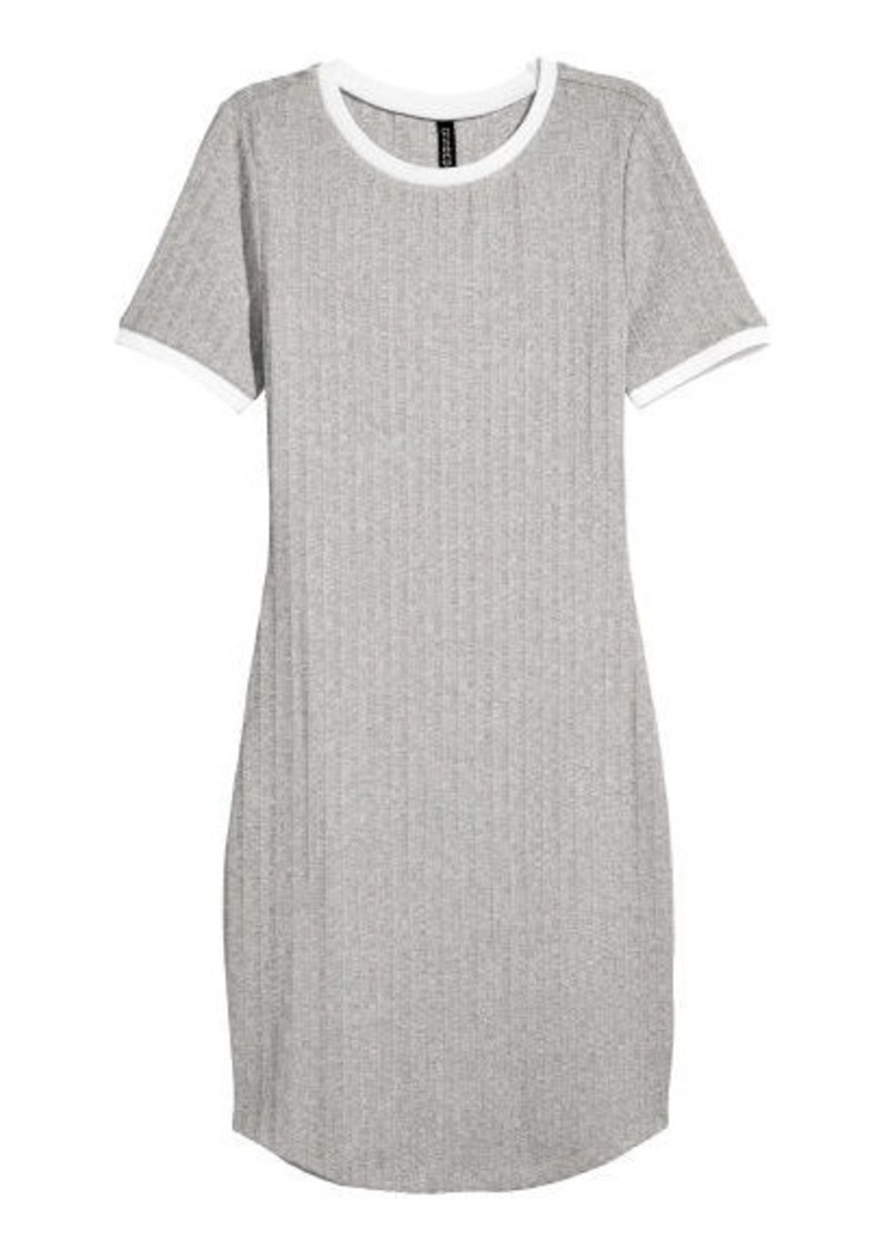 fe45de144ae SALE! H M H   M - Ribbed Dress - Gray