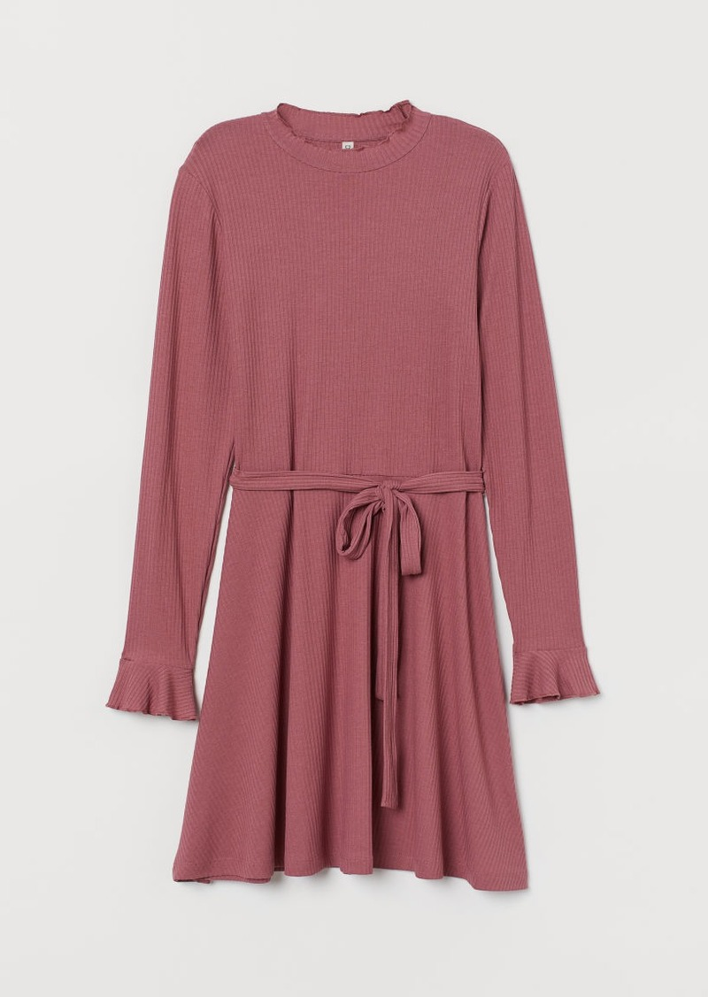 H&M H & M - Ribbed Dress - Pink