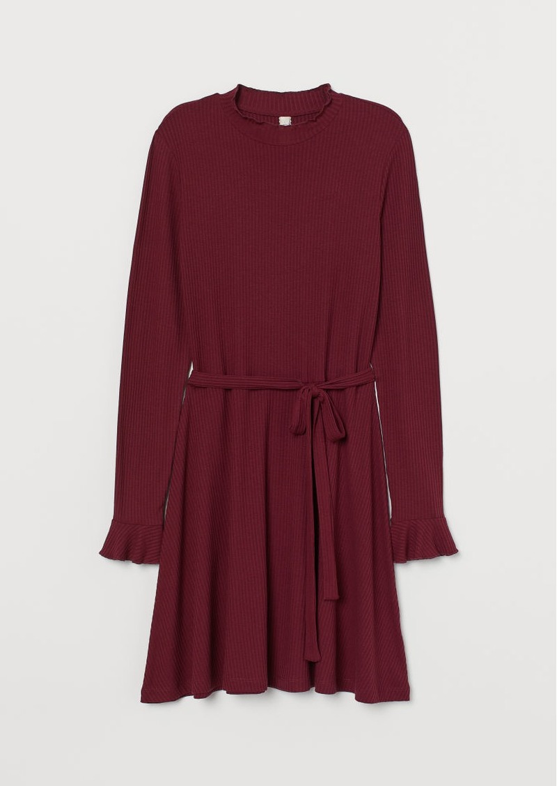 H&M H & M - Ribbed Dress - Red