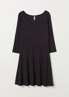 H&M H & M - Ribbed Jersey Dress - Black