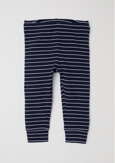 H&M H & M - Ribbed Jersey Leggings - Blue
