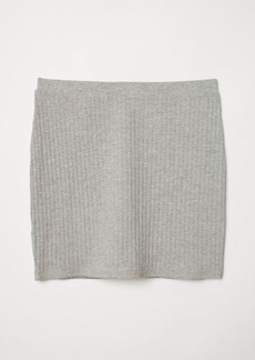 H&M H & M - Ribbed Jersey Skirt - Gray