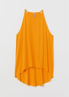 H&M H & M - Ribbed Jersey Tank Top - Yellow