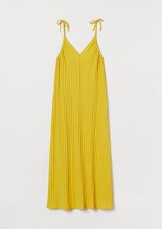 H&M H & M - Ribbed Maxi Dress - Yellow