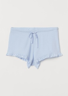 H&M H & M - Ribbed Pajama Shorts - Blue
